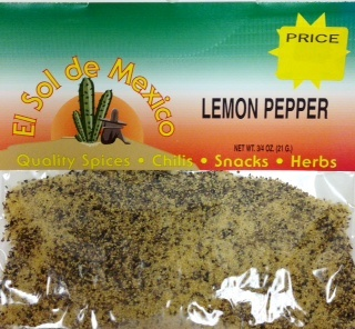 Picture of Lemon Pepper Seasoning by El Sol de Mexico- Item No.9613