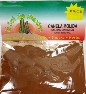 Picture of Ground Cinnamon by El Sol de Mexico - Item No. 9616