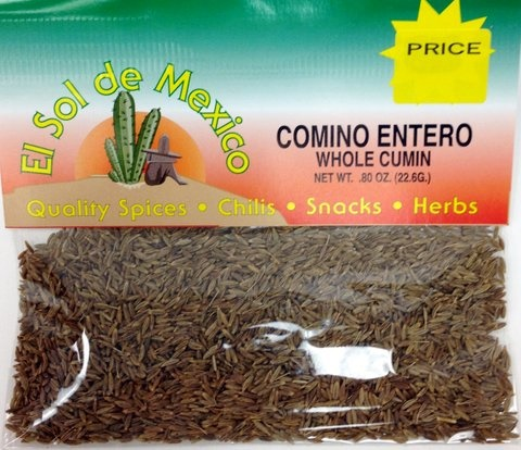 Picture of Whole Cumin by El Sol de Mexico .80 oz - Item No. 9617