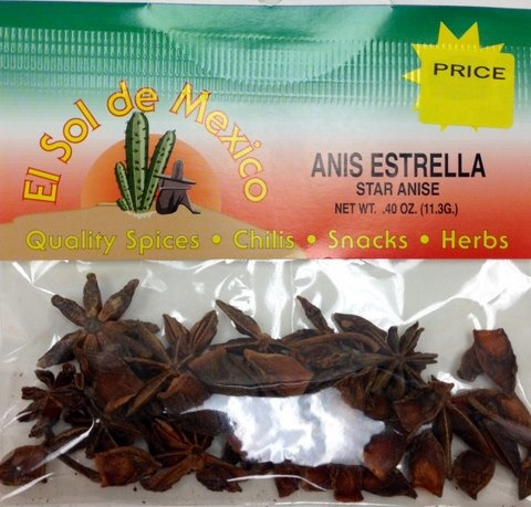 Picture of Star Anise - Anis Estrella by El Sol de Mexico .40 oz - Item No. 9621