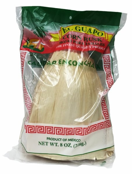 Picture of Corn Husks for Tamales by El Guapo - Hojas para Tamal 8 oz - Item No. 9627