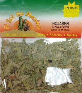 Picture of Hojasen - Senna Leaves by El Sol de Mexico .40 oz - Item No. 9630