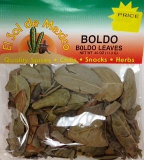 Picture of Boldo Leaves by El Sol de Mexico .40 oz- Item No.9634