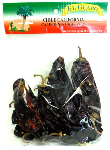 Picture of California Dried Chile Pepper by El Guapo 3 oz. - Item No. 9646