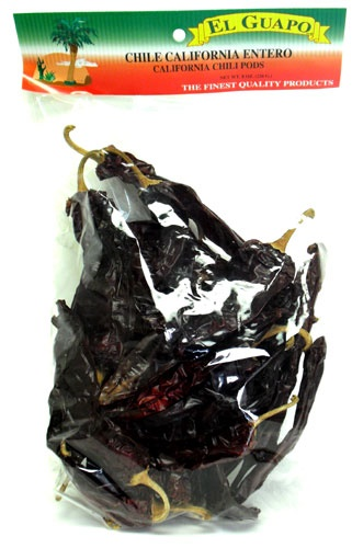 Picture of Chile California Dried Chile Pepper by El Guapo 8 oz. - Item No. 9647