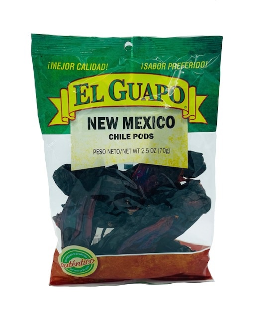 Picture of New Mexico Dried Chile Pepper by El Sol de Mexico 3 oz. - Item No. 9648