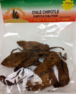 Picture of Chile Chipotle Dried Chile Pepper by El Sol de Mexico - Item No. 9649