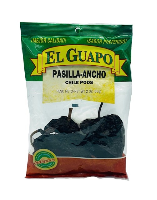 Picture of Pasilla Dried Chile Pepper by El Sol de Mexico 2 oz. - Item No. 9650