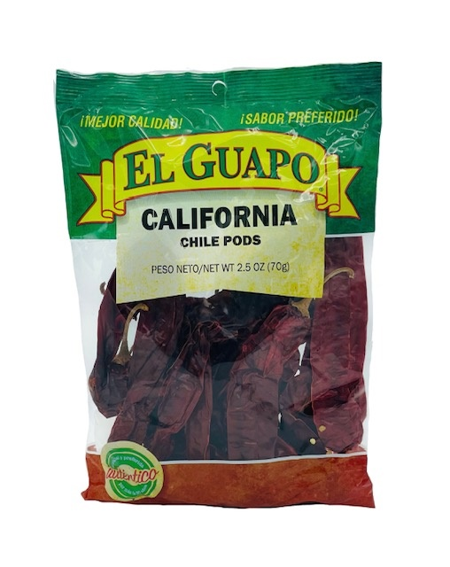 Picture of California Dried Chile Pepper by El Sol de Mexico 3 oz.&nbsp;- Item No.&nbsp;9651