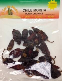 Picture of Chile Morita Dried Chile Pepper by El sol de Mexico 2 oz. - Item No. 9653