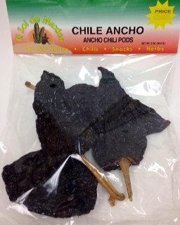 Picture of Ancho Dried Chile Pepper by El Sol de Mexico 2 oz.&nbsp;- Item No.&nbsp;9655