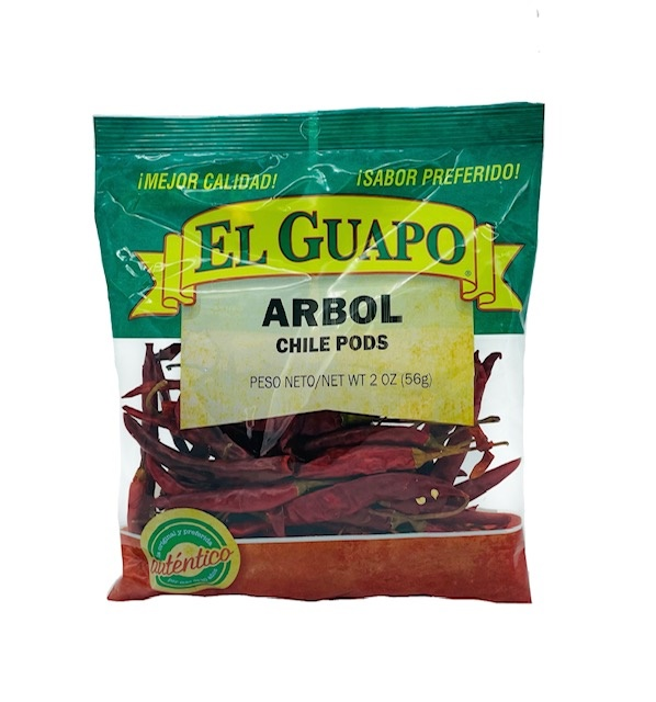 Picture of Dried Chile de Arbol pepper by El Guapo 2.25 oz.&nbsp;- Item No.&nbsp;9660