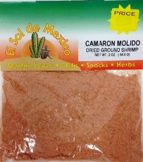 Picture of Ground Dried Shrimp by El Sol de Mexico 2 oz.&nbsp;- Item No.&nbsp;9668
