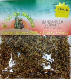 Picture of Chamomile (Manzanilla) by El Sol de Mexico .40 oz. - Item No. 9670