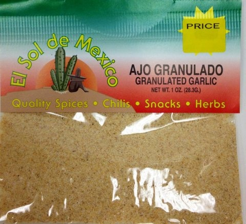 Picture of Ground Garlic by El Sol de Mexico 1 oz. - Item No. 9671