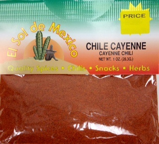 Picture of Cayenne Pepper by El Sol de Mexico 1 oz. - Item No. 9673