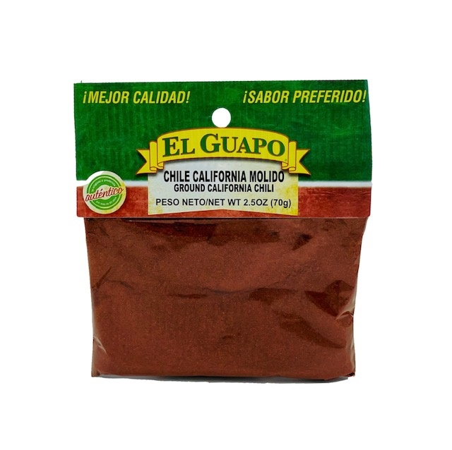 Picture of Ground California Molido Chili (Ground Chili) by El Guapo 2 1/2 oz.&nbsp;- Item No.&nbsp;9677