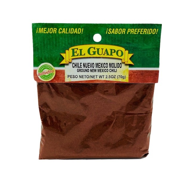 Picture of New Mexico Ground Chili Powder by El Guapo 2 1/2 oz. - Item No. 9679