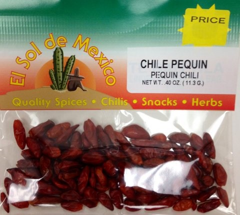 Picture of Chile Pequin Whole Dried Piquin Chili Pepper by El Sol de Mexico&nbsp;- Item No.&nbsp;9695