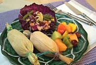 Picture of Sweet Corn and Halibut Tamales Recipe - Item No. 97-sweetcorntamales