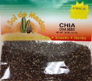Picture of Chia Seed by El Sol de Mexico .50 oz&nbsp;- Item No.&nbsp;9810