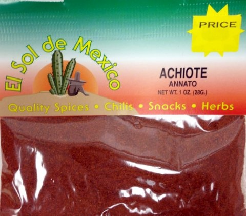 Picture of Achiote - Annato Ground Seasoning by El Sol de Mexico 1 oz. - Item No. 9817