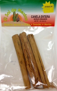 Picture of Whole Cinnamon - Canela Entera by El Sol de Mexico&nbsp;- Item No.&nbsp;9837