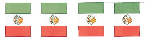 "Picture of Mexican Flag Paper Banner8"" x 6"" - Item No. ams-12092"