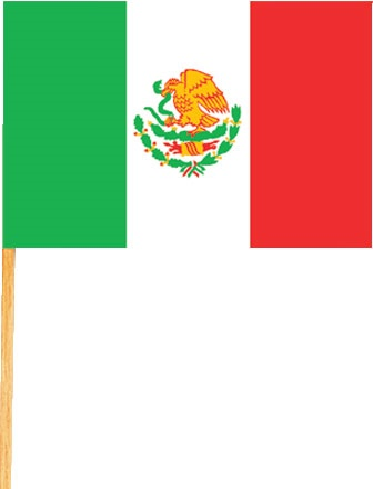 "Picture of Mexican Flag 4"" x 6"" - Item No. ams-213004"
