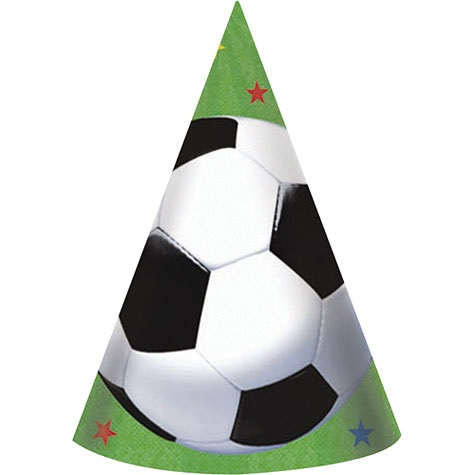 "Picture of Soccer Fan Hats 7"" 8 count - Item No. ams-259709"