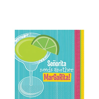 Picture of Senorita Beverage Napkins Pack of 16 - Item No. ams-509565-bn