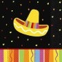 Picture of Fiesta Fun Beverage Napkins Pack of 16 - Item No. ams-509820-bn