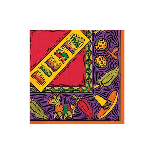 Picture of Fiesta Party Lunch Napkins Pack of 16 - Item No. ams-51041-ln