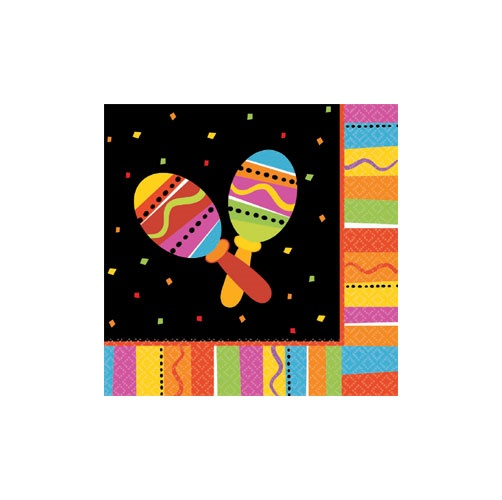 Picture of Fiesta Fun Lunch Napkins Pack of 16&nbsp;- Item No.&nbsp;ams-519820-ln