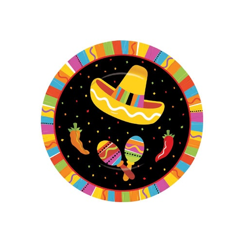 "Picture of Fiesta Fun Plates 7"" Pack of 8 - Item No. ams-549820-plt-7"