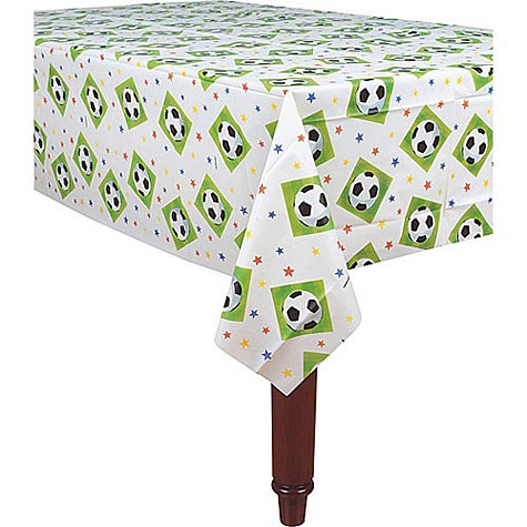 "Picture of Championchip Soccer Plastic Table Cover 54"" x 102"" - Item No. ams-577040-tc"