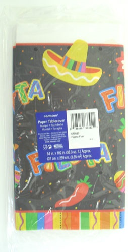 "Picture of Fiesta Fun Paper table Cover54"" x 102"" - Item No. ams-579820-tc"