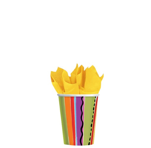 Picture of Fiesta Stripe 9 oz Cups Pack of 8&nbsp;- Item No.&nbsp;ams-589705-cup