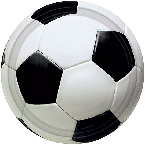 "Picture of Soccer Fan Plates 10 1/2"" Pack of 8 - Item No. ams-599709-plt-10"