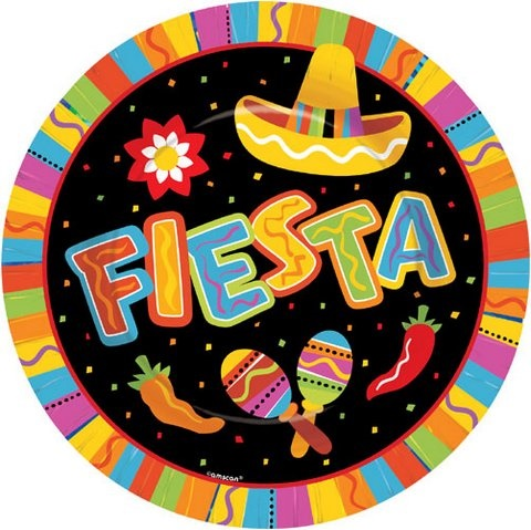 Picture of Fiesta Fun Paper Plates 10 1/2