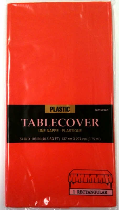 Picture of Plastic Table Cover Orange Peel54