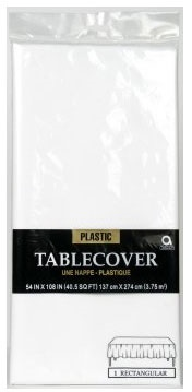 Picture of Plastic Table Cover Frosty White 54