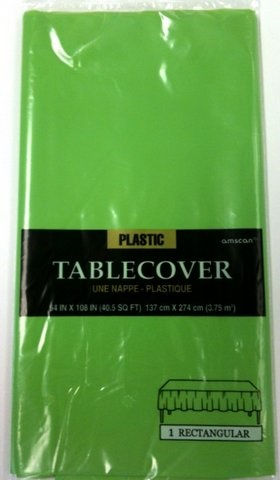 "Picture of Plastic Table Cover Kiwi 54"" x 108"" - Item No. ams-77015-53-tc"