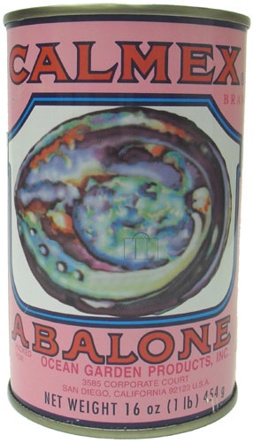 Picture of CALMEX Abalone - 3 Whole Canned Abalone & a Cut Piece Net WT 16 oz - Item No. calmex-abalone