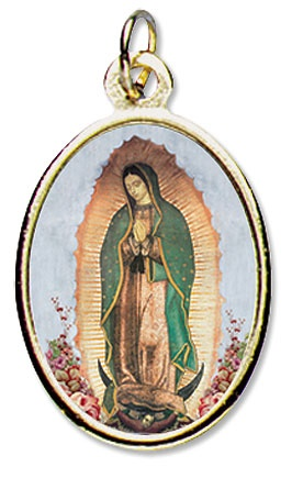 Picture of Our Lady of Guadalupe Epoxy Medal - Full body Virgin of Guadalupe - Item No. ds284