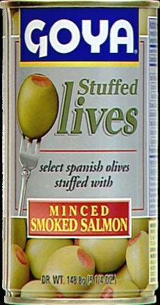 Picture of Goya Manzanilla Olives Stuffed with Salmon 5.25 oz - Item No. goya-1489
