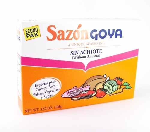 Picture of Goya Sazon without Annatto 3.52 oz - Item No. goya-3778