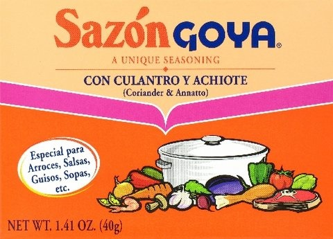 Picture of Goya Sazon Cilantro and Achiote Seasoning 1.41 oz&nbsp;- Item No.&nbsp;goya-3782