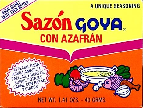 Picture of Sazon Goya Azafran Seasoning 1.41 oz - Item No. goya-3784