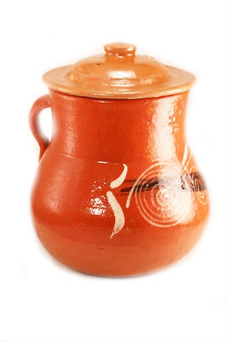 Picture of Mi Patria olla de Barro con tapa chica 1 unit - Item No. kme20609-c